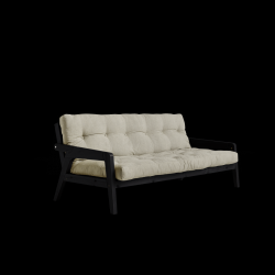 Sofabed Grab | Black Frame + Linen Mattress
