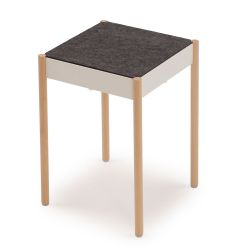 La Table Stapelbarer Hocker B1W/FG | Weiß RAL 9016