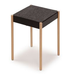 B1W/FG La Table Tabouret Empilable | Noir RAL 9005