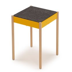 B1W/FG La Table Tabouret Empilable | Jaune RAL 1021