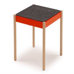 La Table Stackable Stool B1W/FG | Orange RAL 2004