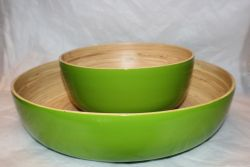 Bamboo Salad Bowl Lime