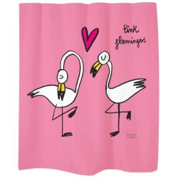 Shower Curtain | Pink Flamingos