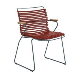 Outdoor Dining Chair with Tall Back Click | Paprika Red