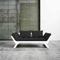 Sofa / Bed Bebop | White Frame | Dark Grey