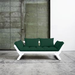 Sofa / Bed Bebop | White Frame | Green