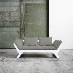 Sofa / Bed Bebop | White Frame | Grey