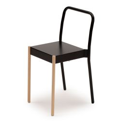 La Table Stackable Chair C1TW | Black RAL 9005