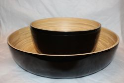 Bamboo Salad Bowl Black