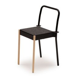 La Table Stackable Chair C1TW/i/FG | Black RAL 9005
