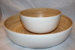 Bamboo Salad Bowl White