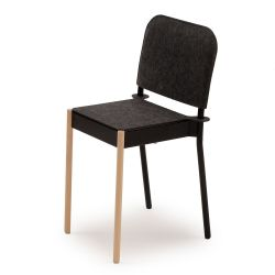 La Table Stackable Chair C1TW/k/FG | Black RAL 9005