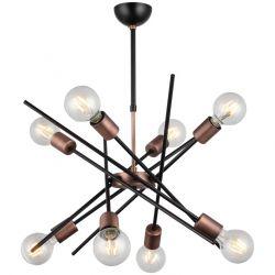 Metal Gera Chandelier | 8 Lights | Copper Black