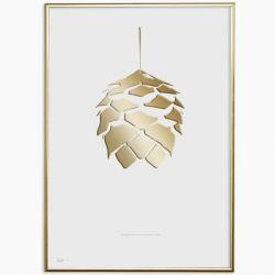 Poster 24K Gold Baum 2 | Weiß