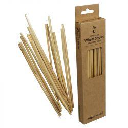 60 Einweg-Trinkhalme | Weizen + Bambus