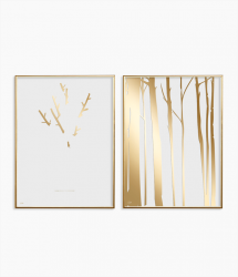 Poster 24K Gold Combination of 2 025