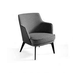 Upholstered Arm Chair | Black & Grey