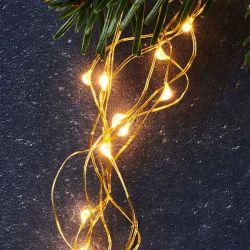 Lichtsnoer Knirke 160 Ledlampen | Goud
