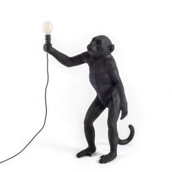 Outdoor Lamp Monkey Standing | Black
