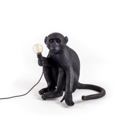 Outdoor Lamp Monkey Sitting | Black