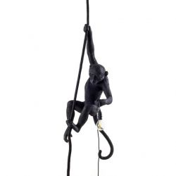 Outdoor Lamp Monkey With Rope | Black