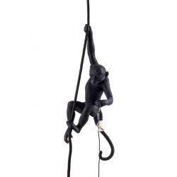 Außenlampen-Affe mit Seil | Schwarz