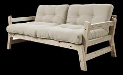 Sofabettstufe | Natürlicher Rahmen | Beige