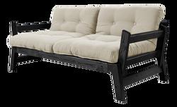 Sofabett Step | Schwarzer Rahmen | Beige