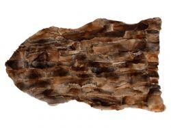 Kaninchenfell-Teppich | Braun
