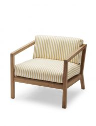 Outdoor Chair Virkelyst | Yellow Stripes