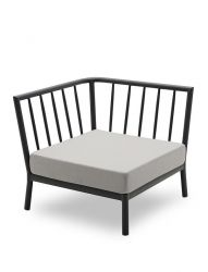 Outdoor Sofa Tradition Corner Module | Ash / Dark Grey