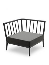 Outdoor Sofa Tradition Corner Module | Charcoal / Dark Grey