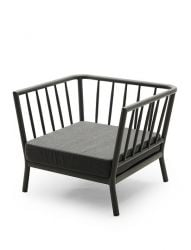 Outdoor Lounge Chair Tradition | Charcoal / Dark Grey