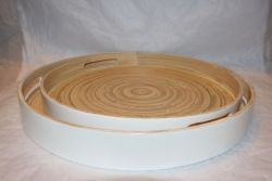 Bamboo Tray White