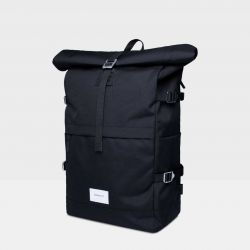 Backpack BERNT | Black with Black Leather