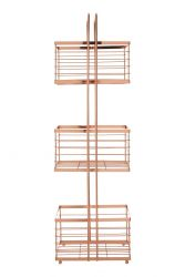 Rectangular Storage Trolley | Rose Gold