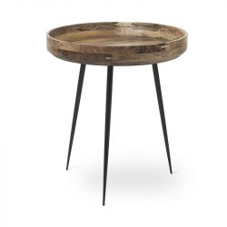 Table d'Appoint Bowl Medium | Bois de Manguier Laqué Naturel