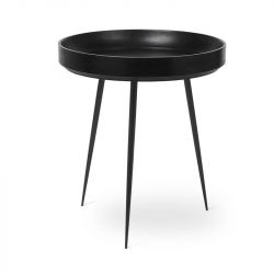 Table d'Appoint Bowl Medium | Bois de Manguier Teinté Noir