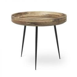 Table Bowl Large | Natural Lacquered Mango Wood