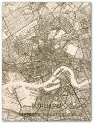Wooden Wall Decoration | City Map | Rotterdam