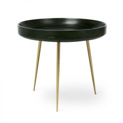 Table d'Appoint Bowl Large | Bois de Manguier Teinté Vert Nori