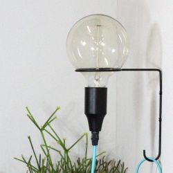 Wall Lamp Atom | Black + Turquoise Cable