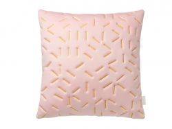 Splash Memory Pillow Square | Nude / Yellow Stiches
