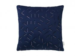 Splash Memory Pillow Square | Blue / Nude Stiches