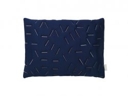 Splash Memory Pillow Rectangular | Blue / Nude Stiches