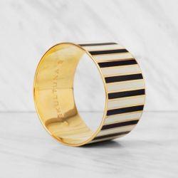 Stripe Bangle Bracelet | Black/White