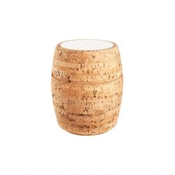 Side Table #1 | Natural Cork + White Table Top