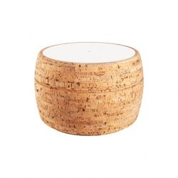 Side Table #3 | Natural Cork + White Table Top