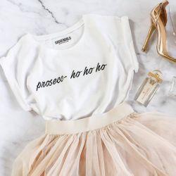 T-Shirt Prosecco Ho Ho Ho | White