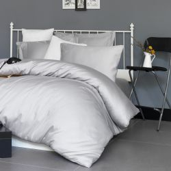 Quilt Cover Set Satin | Light Grey